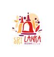 travel to sri lanka logo or label design vector image