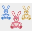 Set of color hare vector image vector image