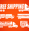 Delivery stickers vector image