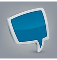 Blue cloud speech vector image
