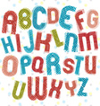 Childish alphabet children style colorful letters vector image
