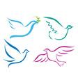 Stylised bird design vector image vector image