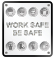 Health and Safety Sign vector image