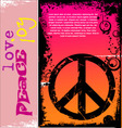 peace background vector image vector image