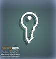 Key icon symbol on the blue-green abstract vector image