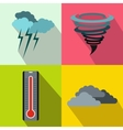 Weather banners set flat style vector image