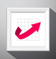 Arrow Graph in Frame vector image