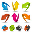 colorful motion arrows set vector image