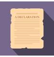 Declaration flat icon vector image