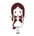 girly fairy without wings and long wavy hair in vector image