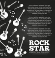 rock star chalkboard poster design vector image