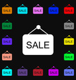 Sale icon sign Lots of colorful symbols for your vector image
