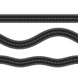 Seamless Horizontal Roads vector image