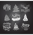 sketches Christmas trees vector image