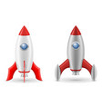 space rocket retro spaceship vector image