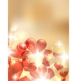 Valentine bokeh light background vector image