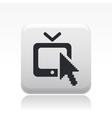 Web tv icon vector image