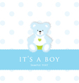 Baby Boy Teddy Card vector image vector image