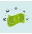 bills money dollar buy vector image