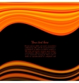 black background with orange band for text vector image vector image