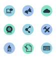 set of simple blogging icons vector image