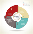 Modern design minimal style infographic layout vector image