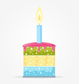 Cake with Candle vector image vector image