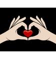 Hands heart sign vector image