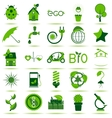 Green Eco Icons 3 vector image vector image