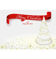White Christmas Tree vector image