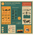 Economy and industry Construction and building vector image
