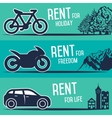 Rental car and other transport banners vector image