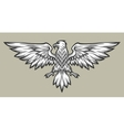Eagle mascot spread wings Symbol mascot vector image