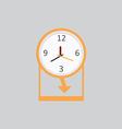 Clock Icon 2 vector image