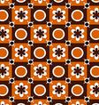 Floral retro orange brown vector image
