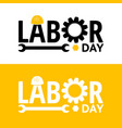 labor day design elements icon label badge vector image