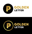 Letter P logo icon design template elements vector image