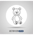 little bear design vector image