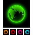 Neon earth vector image