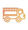 restaurant food truck trasnport service vector image