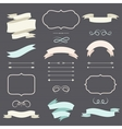 Set of romantic arrows ribbons and labels in retro vector image