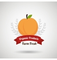 farm fresh food symbol vector image