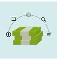 bills money dollar buy vector image