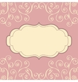 Decorative vintage pattern text background vector image