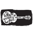 Hand drawn with acoustic guitar and lettering vector image
