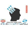 Neuro Interface Flat Icon With 2017 Bonus Trend