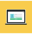 Web Template of Notebook Login Form vector image