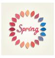 Creative spring card design vector image