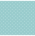 Tile white polka dots on blue background vector image vector image