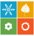 Four season vector image